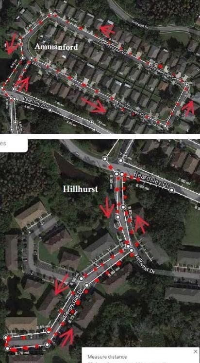 Ammanford and Hillhurst Routes