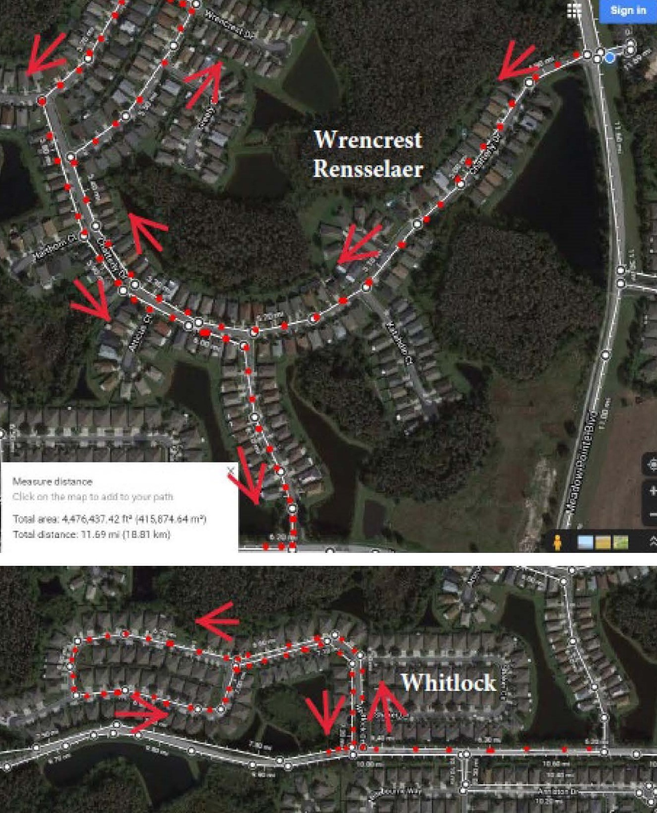 Wrencrest/Rensselaer and Whitlock Route